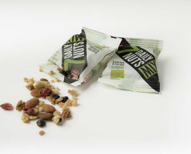 Sobre de 25 g de frutos secos. 28 sobres para disfrutar de tu ración diaria de frutos secos
