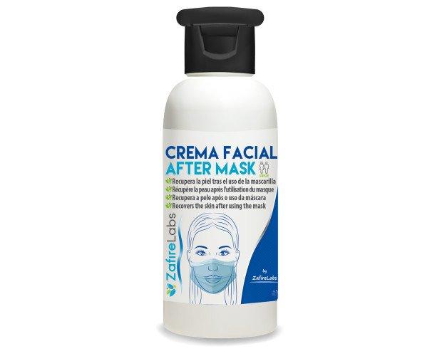 Crema facial. Crema facial para después del uso de la mascarilla.