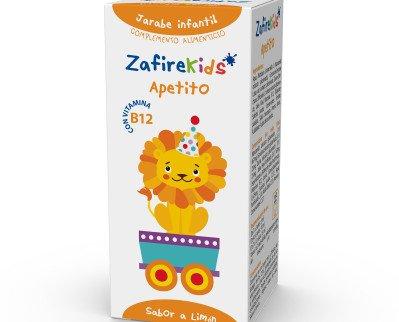 Zafire Kids Apetito. Su composición es a base de Manzanilla, Gencianna, Quina y Jalea Real