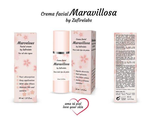 Crema Facial Maravillosa 30ml. Crema Facial Maravillosa. Concentrada y especial para todo tipo de pieles.