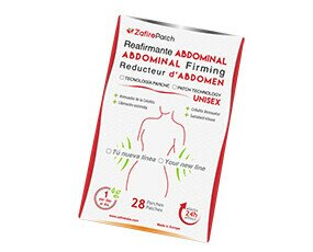Zafire Patch Reafirmante Abdominal. Tecnología parche para ayudar a reafirmar el abdomen y combatir la celulitis. Unisex.