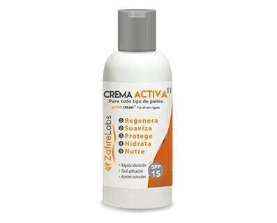 Zafire Labs Crema Activa 11. Crema corporal desarrollada para pieles de personas mayores o especiales.