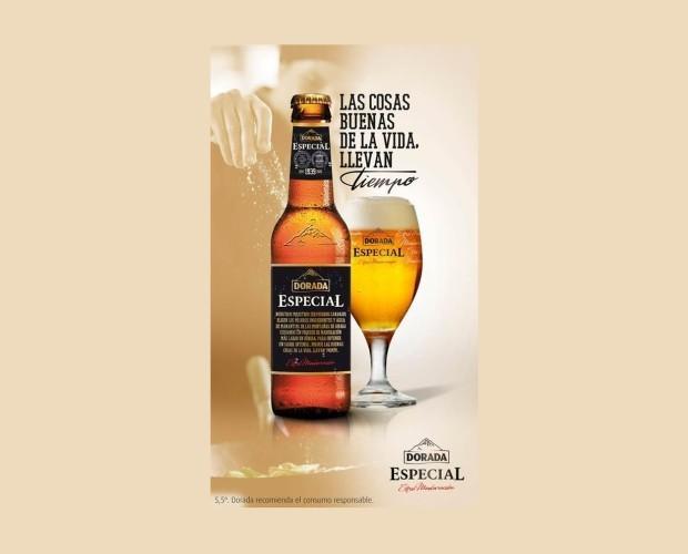 Botellas de Cerveza con Alcohol.Rubia Doble Malta 5,5º Maridaje con cocina mediterránea.
