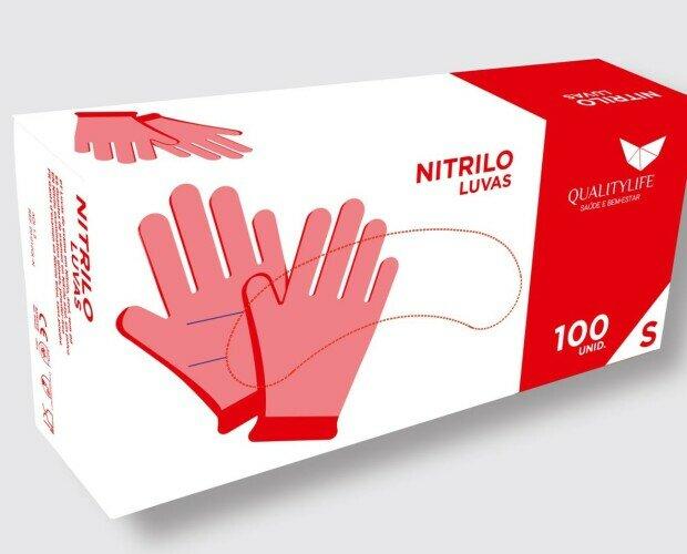 caja de guantes. caja de guantes desechables de nitrilo