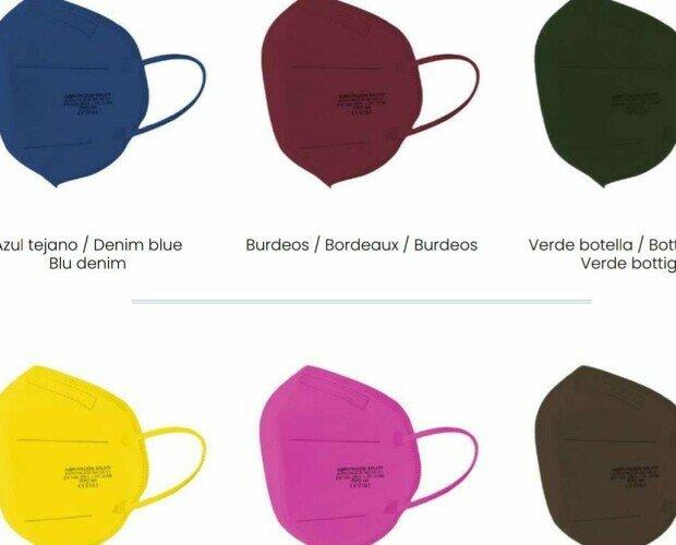FFP2 de colores. Fabricado en Madrid, disponemos de 9 colores
