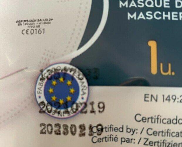 Ffp2 blancas. ffp2 blancas, con filtración del 99% , certificado por Aitex y fabricadas en Madrid