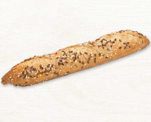 1/2 Gourmetini Cereales. Elaborado con centeno, trigo, masa madre natural y cereales