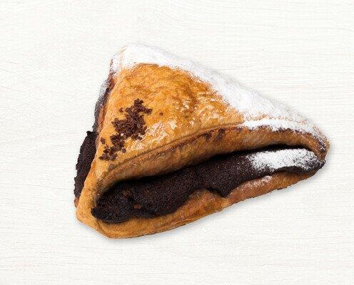 Triángulo de Chocolate. También conocidas como uñas de chocolate clásicas