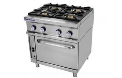 Cocinas industriales. De 2, 4 y 6 fuegos, con y sin horno