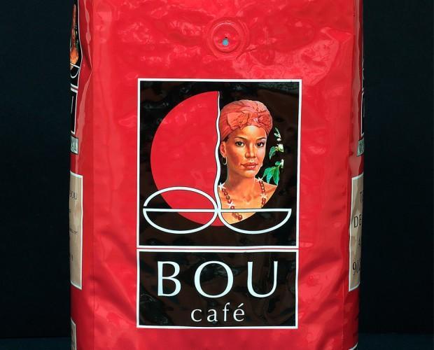 Café en grano Bou. Excelente calidad. Presentación de 1 kilo.