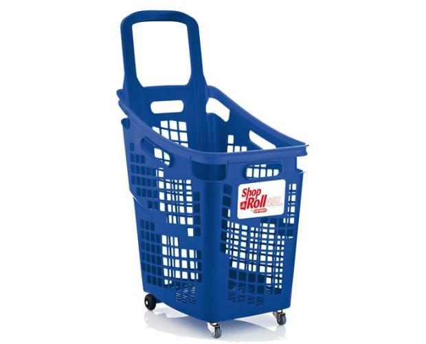 Cestas de Supermercado.Cesta Monoblock 65 Litros se Fabrica en Verde, Azul, Rojo y Una gama completa en Bicolor