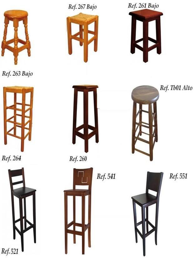 Muebles para Bares. Taburetes. Taburetes de madera para bares, precios de fabrica