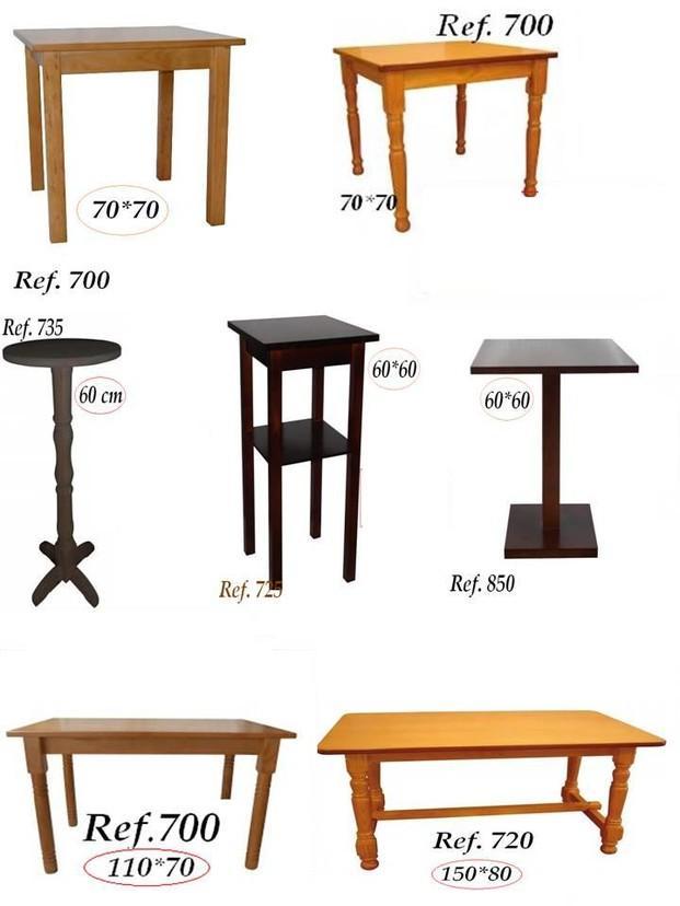 Mesas.Mesas para bares y restaurantes