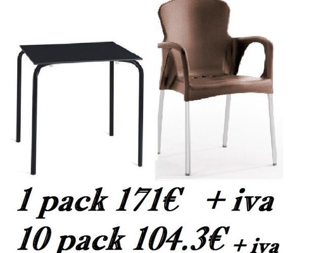 Muebles para Restaurantes.Sillas y mesas de terraza, oferta para hosteleria