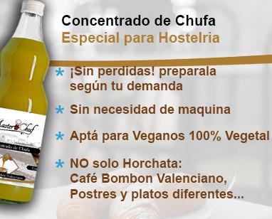Horchata para hostelería. Concentrado de Horchata, sabor y alta rentabilidad