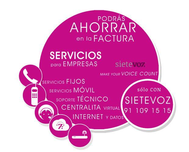 Servicios Sietevoz. Múltiples servicios de telefonía IP