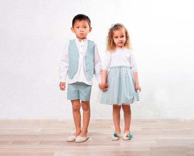 Conjunto ceremonia. Conjunto de ceremonia a juego niño y niña. Él: conjunto Dante. Ella: conjunto Rhonda.