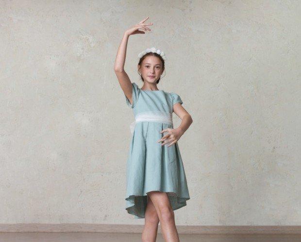 Vestido de comunión. Vestido de comunión Amanda con el fajín de tul (sin saya). Sencillo y elegante.