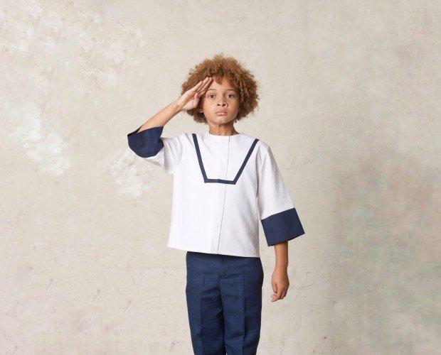 Atuendo para Comunión. Conjunto de comunión de marinero con casaca japonesa.