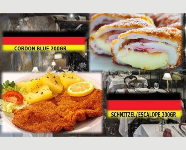 Platos Preelaborados a Base de Carne.Escalope /cordón blue alemana 180gr importación