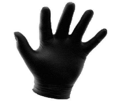 Guantes desechables. Guantes de nitrilo sin polvo para ambas manos. Ligeros con superficie microtexturada. Cumple con los requisitos de la Directiva Europea 2016/425/UE. Marcaje CE.Caja de 100.