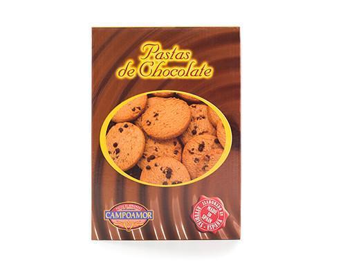 Pastas de chocolate. Galletas de mantequilla y chocolate