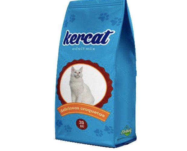 Kercat para gatos. Alimento completo extrusionado en forma de crujientes croquetas
