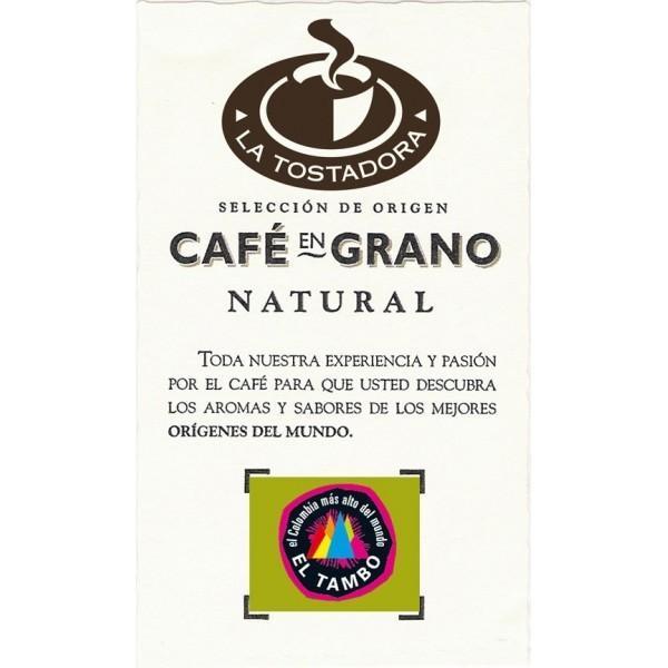 Café Colombiano. Café negro