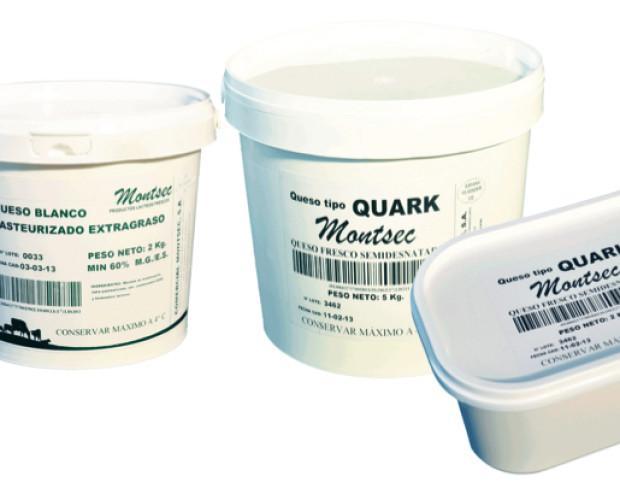 Queso quark. Queso fresco semidesnatado