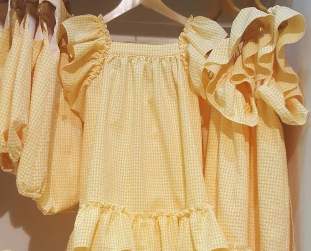 Vestido amarillo. Hermosos vestidos