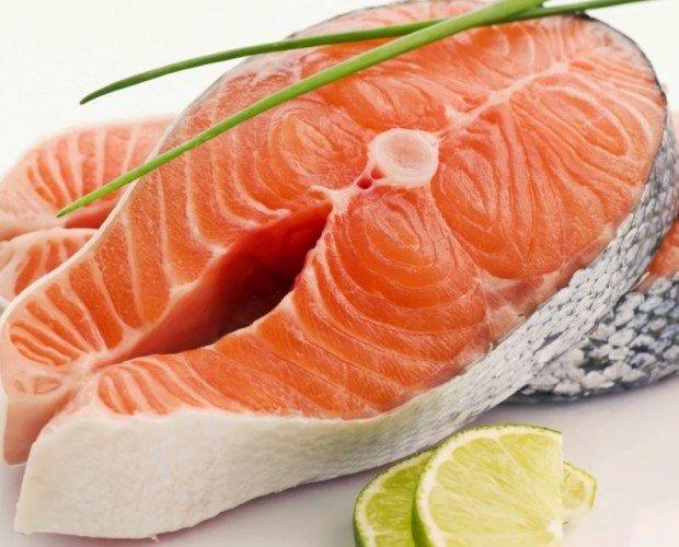 Rodaja Salmón. salmón en rodajas