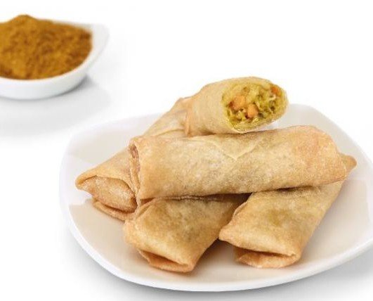 Mini rollito pollo curry cong. Rollito de pollo formato caja 1 kg