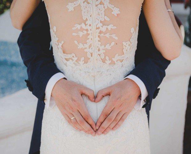 Novios corazón. Reportaje foto boda Jaén