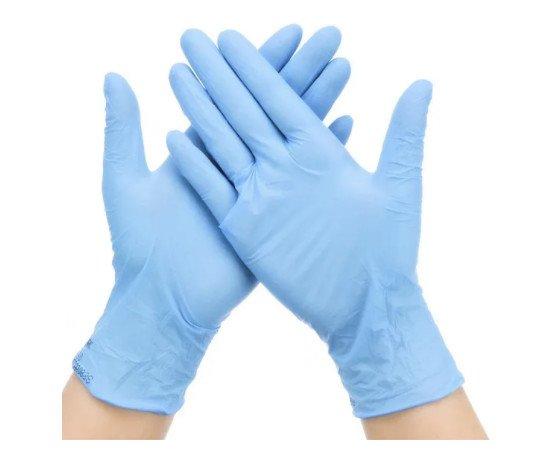Guantes de nitrilo. Guantes de nitrilo sin polvo de color azul