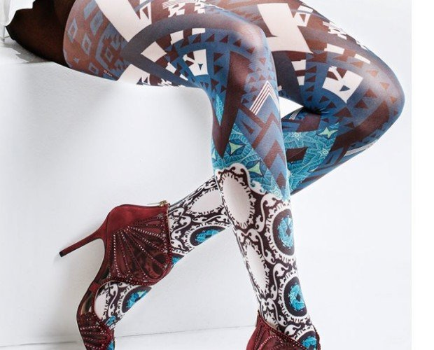 ORIGAMI. Panty modelo Origami Sublimático Rombo en algodón 100% Made in Italy