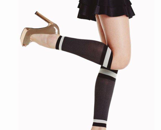 SONIC. Calcetines tipo calentador En canalé Disponible en negro, marrón, azul y verde Talla única 100% Made in Italy