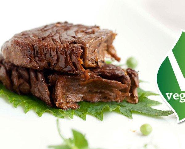 Tiras de carne vegetariana. Para veggies y alergias alimentarias