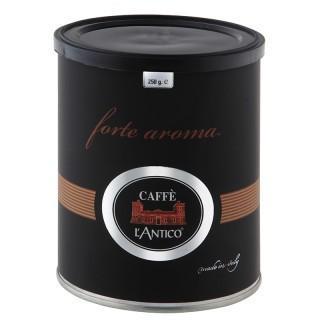 Café en grano Fuerte. En latas de 250 gramos