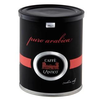 Café en grano Puro. 100% Arábica, en lata de 250 gramos