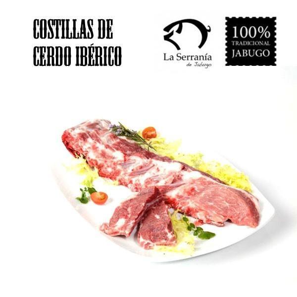 Costillas de cerdo ibérico. Envasado al vacío fresco o congelado con Certificado de Calidad