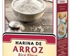 Harina de arroz. Esta harina no contiene gluten