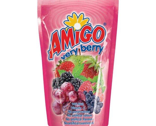 amigo verry berry. Zumo para niños , 8 sabores