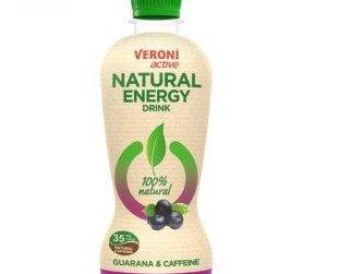 energy acai. Veroni active Natural Energy Drink es una bebida energética con ingredientes naturales.