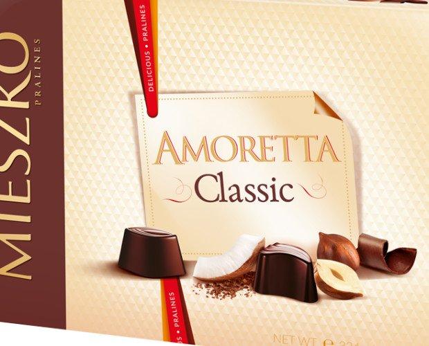 Amoretta Classic 324g PNG. Bombones con frutos secos