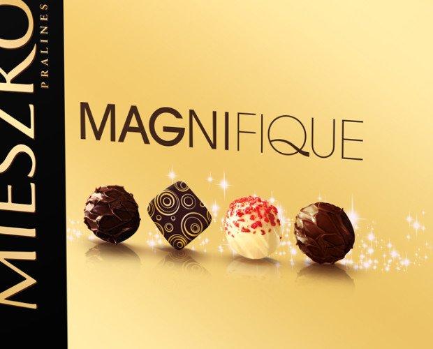 Magnifique bombones. Bombones de chocolate