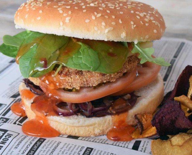 Hamburguesa Vegana. Productos congelado.