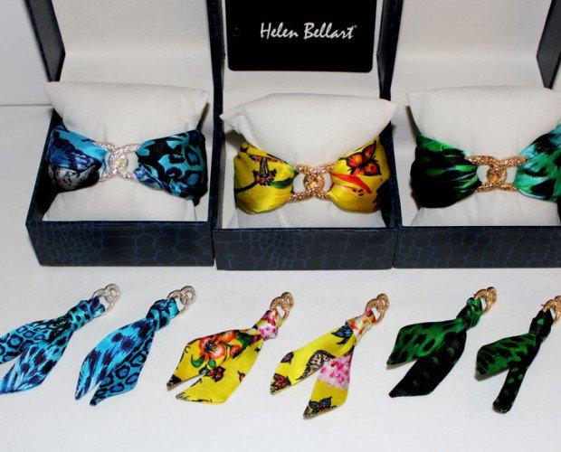 Conjuntos de seda. Joyas de seda diseñadas por Helen Bellart