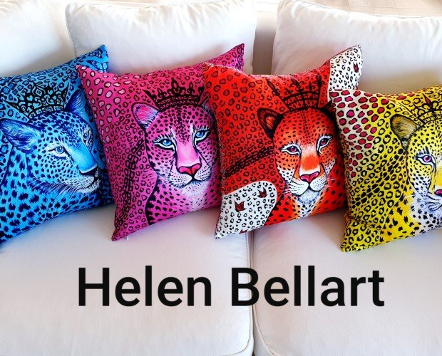 Cojines decorativos. Nueva colección de cojines decorativos de la marca Española Helen Bellart con unos diseños únicos hechos a mano en España.