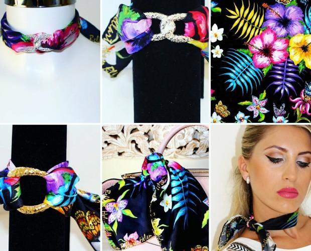 Complementos de moda. Accesorios multifuncionales de seda diseñados por Helen Bellart.