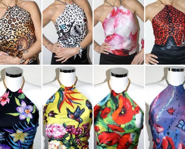 Top de seda. Nueva Colección de alta costura de Tops de seda con diseños únicos diseñados por Helen Bellart. Hechos a mano artesanalmente en España.